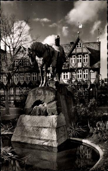 Ak Wolfenbüttel in Niedersachsen, Herzog August Denkmal