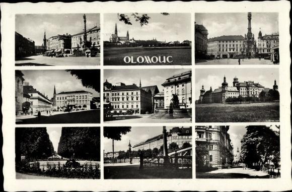 Ak Olomouc Olmütz Stadt, Teilansicht der Stadt, Häuserpartien
