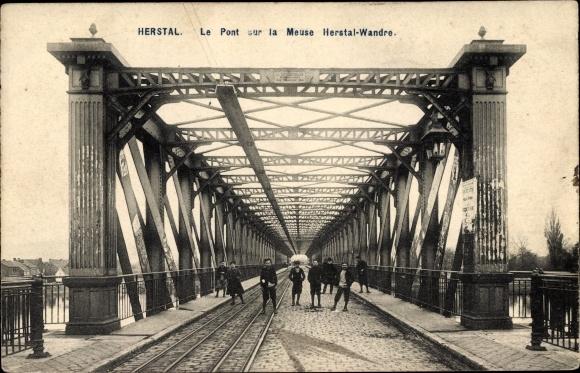 Ak Herstal Wallonien Lüttich, Le Pont sur la Meuse Herstal Wandre