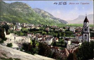 Ak Meran Merano Südtirol, Stadtteilansicht vom Tappeiner, Kirche
