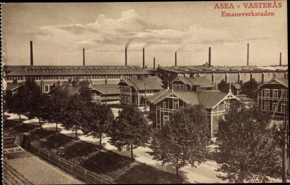 Ak Västerås Schweden, ASEA, Emausverkstaden
