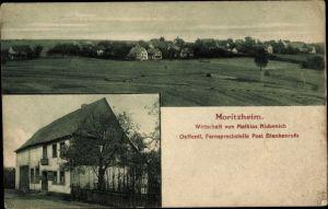 Ak Blankenrath Moritzheim Rheinland Pfalz, Panorama, Wirtschaft v. Mathias Nickenich, Straßenansicht