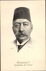 Künstler Ak Sultan Ghazi Mohamed V., Mohammed V. der Türkei, I. WK
