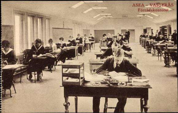 Ak Västerås Schweden, ASEA, Förradskontoret