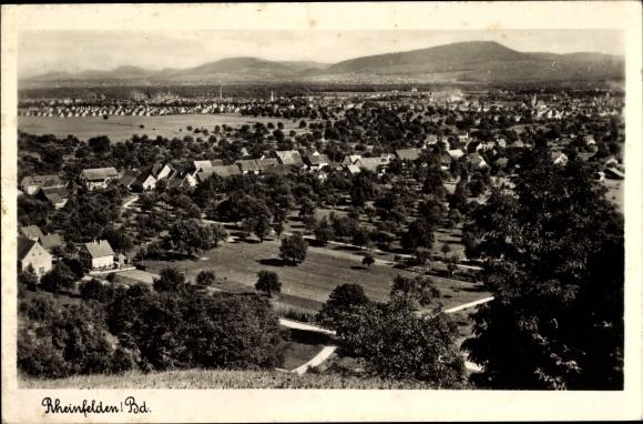 Ak Rheinfelden in Baden Württemberg, Totalansicht vom Ort