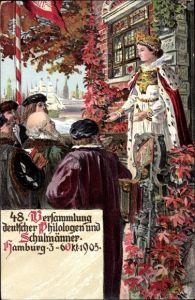 Künstler Ak Hamburg, 48. Versammlung dt. Philologen u. Schulmänner, 3. - 6. Oktober 1905, Hammonia