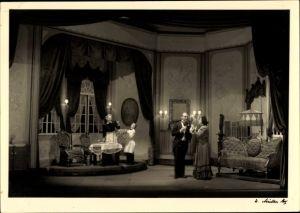 Foto Ak Theaterszene Fledermaus, 1. Akt, Diese Frau ist ja eine Kirce