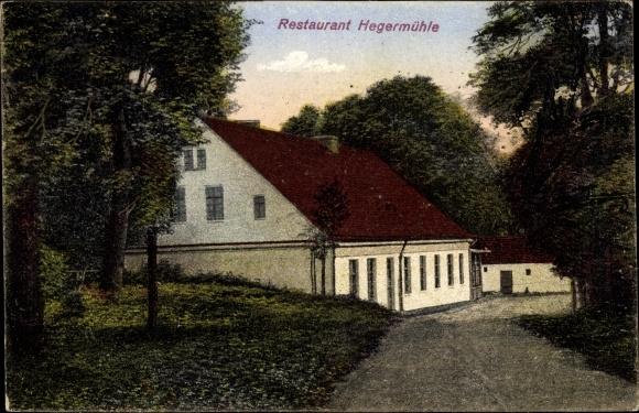 Ak Heegermühle Strausberg Märkisch Oderland, Restaurant Heegermühle, Inh. R. Schmidt, Straßenansicht 0