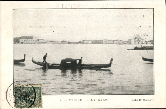 Ak Venezia Venedig Veneto, la rade, chaloupes, Gondelboote 0