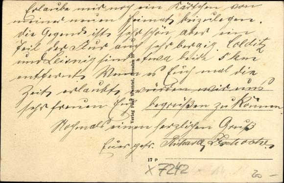 Ak Meuselwitz Colditz Sachsen, Straßenpartie, Passanten, Gasthof, Kriegerdenkmal 1