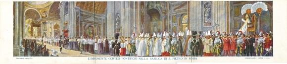 Klapp Ak Vatikan Rom Lazio, Petersdom, L'Imponente Corteo Pontificio, Papst Pius X.