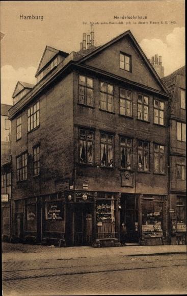 Ak Hamburg, Mendelsohnhaus, Actien Bierbrauerei, Straßenansicht