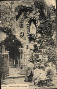 Ak Conjoux Namur Belgien, La Grotte de Notre Dame de Lourdes