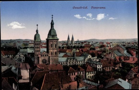 Ak Osnabrück in Niedersachsen, Panoramablick auf die Stadt