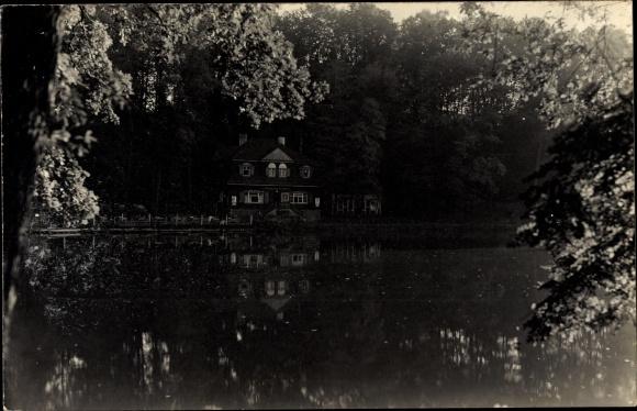 Ak Glauchau in Sachsen, Teichpartie, Parkschänke Gründelhaus, Inh. Karl Schütze