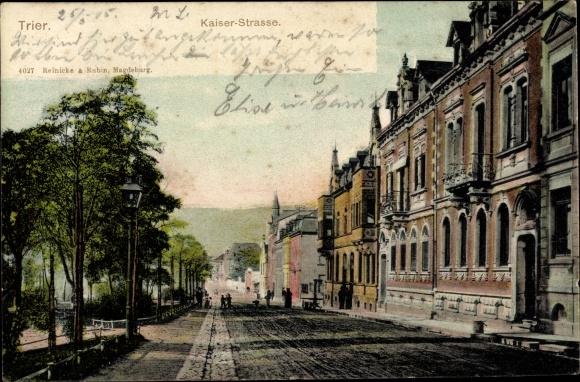 Ak Trier in Rheinland Pfalz, Kaiserstraße, Häuserfassaden