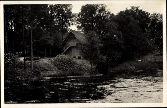 Ak Müden Faßberg Lüneburger Heide, Alter Treppenspeicher dn der Wietze, Panorama