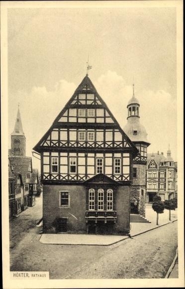 Ak Höxter in Nordrhein Westfalen, Blick auf das Rathaus