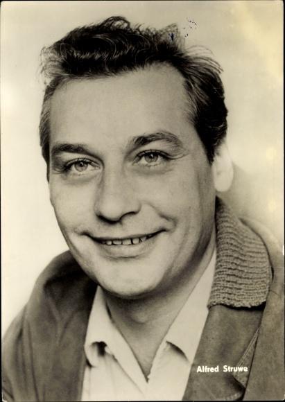 Ak Schauspieler Alfred Struwe, Portrait, DEFA, Die Ohrfeige