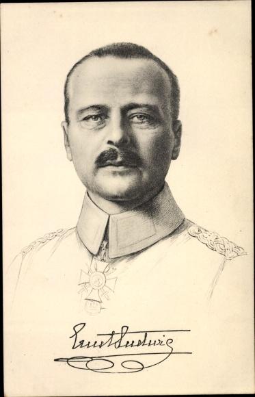 Künstler Ak Großherzog Ernst Ludwig von Hessen Darmstadt, Portrait, Stengel 49172