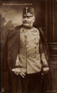 Ak Feldmarschall Friedrich von Österreich Teschen, NPG 5184