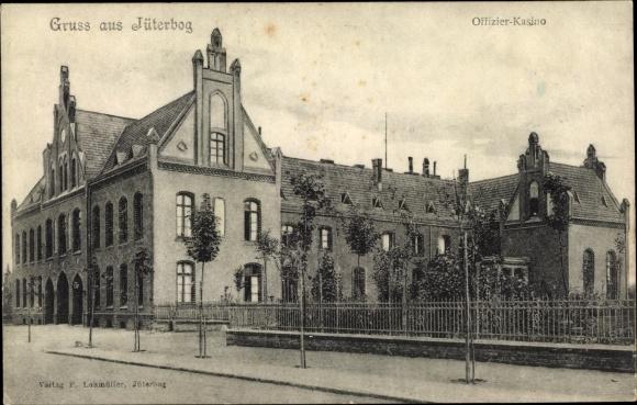 Ak Jüterbog in Brandenburg, Offizierskasino, Außenansicht