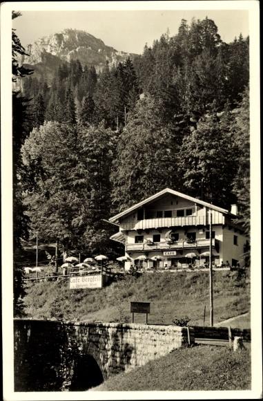 Ak Bayrischzell im Mangfallgebirge Oberbayern, Café Bergfeld, Wendelstein