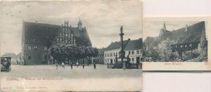 Leporello Ak Jüterbog in Brandenburg, Rathaus, Kriegerdenkmal, Kloster, Pferdestraße, Stadtmauer