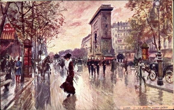 Künstler Ak Stein, Georges, Paris, La Porte Saint Denis