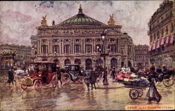 Künstler Ak Stein, Georges, Paris, La Place de l'Opera