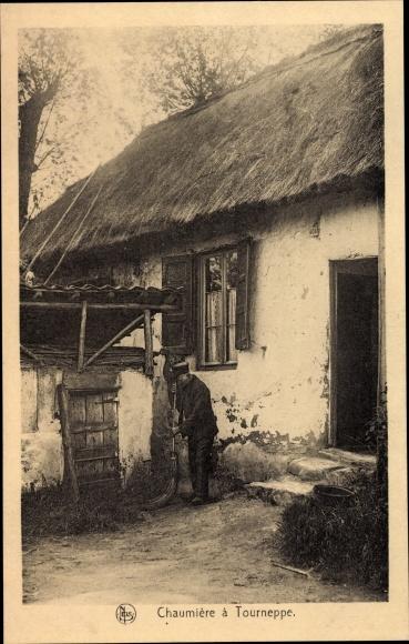 Ak Tourneppe Beersel Flandern Flämisch Brabant, Bauer, Bauernhof