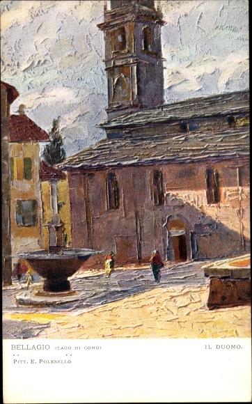 Künstler Ak Polesello, E., Bellagio Lago di Como Lombardia, Il Duomo