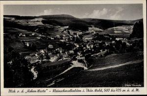 Ak Kleinschmalkalden Floh Seligenthal Thüringen, Panorama vom Ort, Blick v. d. Hohen Warte