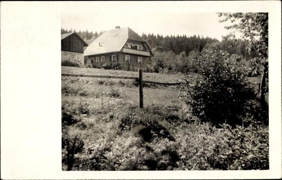 Foto Ak Zwiesel im Bayerischen Wald, Partie im Grünen, Haus, Wald