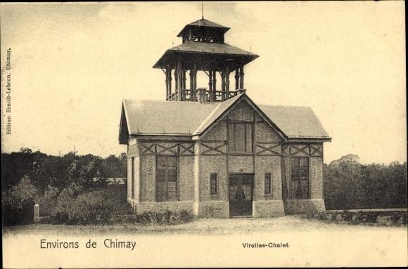 Ak Chimay Wallonien Hennegau, Virelles Chalet, vue de la rue