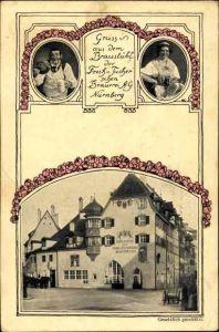 Passepartout Ak Nürnberg in Mittelfranken Bayern, Braustübl der Freih. u. Tucherschen Brauerei AG