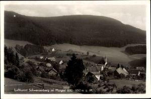 Ak Schwarzenberg Baiersbronn Schwarzwald, Totalansicht vom Ort