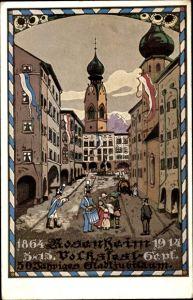 Künstler Ak Rosenheim Oberbayern, 50jähriges Volksfest