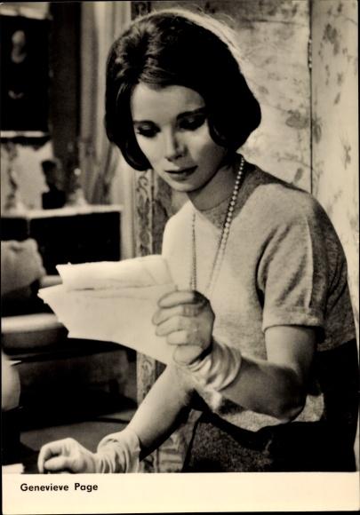 Ak Schauspielerin Genevieve Page, Der ehrenwerte Stansilas, Portrait