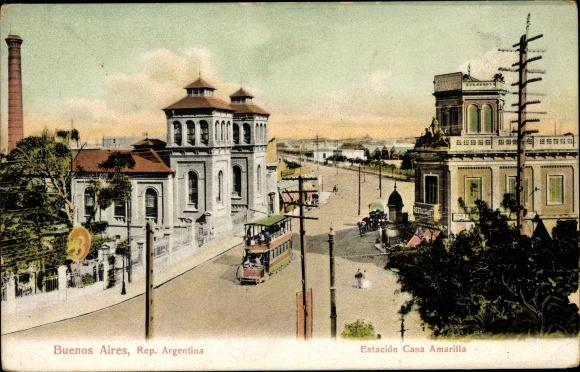 Ak Buenos Aires Argentinien, Estacion Casa Amarilla
