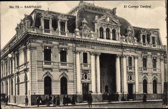 Ak Santiago de Chile, El Correo Central