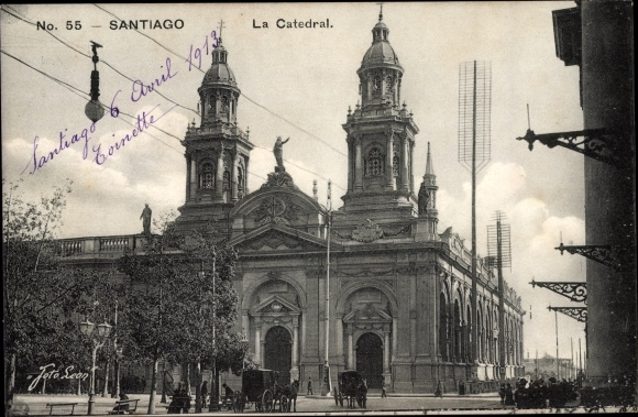 Ak Santiago de Chile, La Catedral, Kathedrale