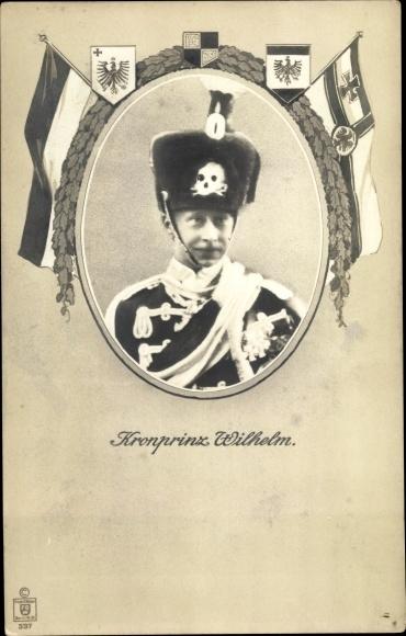 Ak Kronprinz Wilhelm von Preußen, Husarenuniform