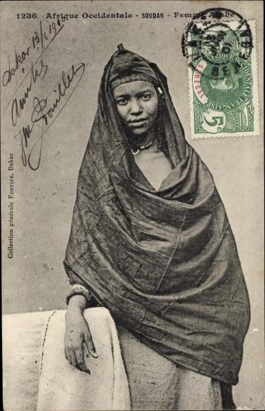 Ak Mali, Afrique Occidentale, Femme Arabe, Portrait einer jungen Malierin