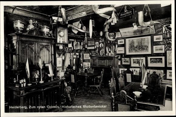 Ak Heidelberg am Neckar, Gasthaus Zum roten Ochsen, Bes. Familie Spengel Hauptstraße 217