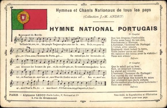 Wappen Lied Ak Hymne National Portugais, portugiesische Nationalhymne