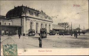 Ak Milano Mailand Lombardia, Stazione Centrale, Hauptbahnhof