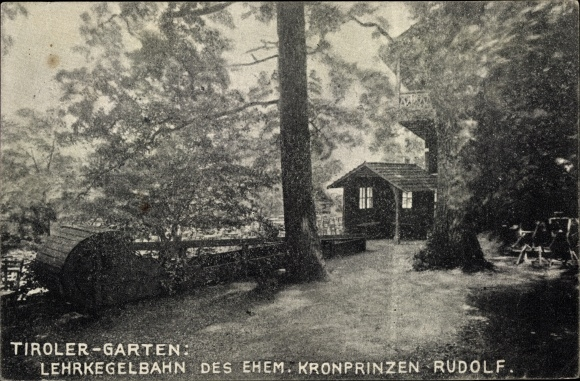 Ak Tirol Österreich, Tiroler Garten, Lehrkegelbahn des ehem. Kronprinzen Rudolf