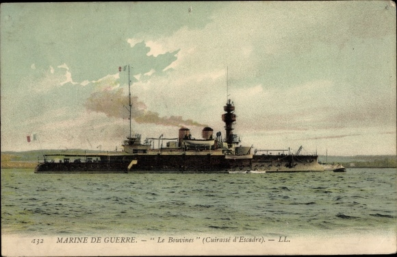 Ak Französisches Kriegsschiff, Le Bouvines, Cuirassé d'Escadre, Marine de Guerre