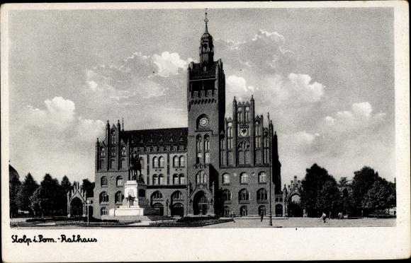 Ak Słupsk Stolp Pommern, Rathaus, Ratusz